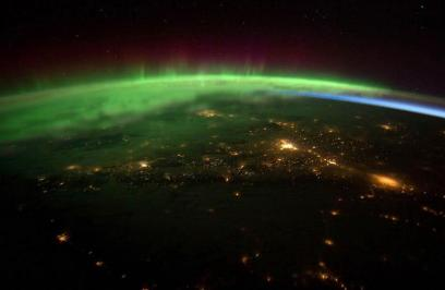 Aurora Borealis from space